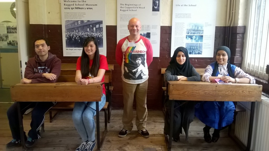 Volunteers at the Ragged School Museum
